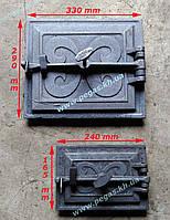 Дверцы чугунные печные барбекю, печи, грубу (комплект №9), фото 1