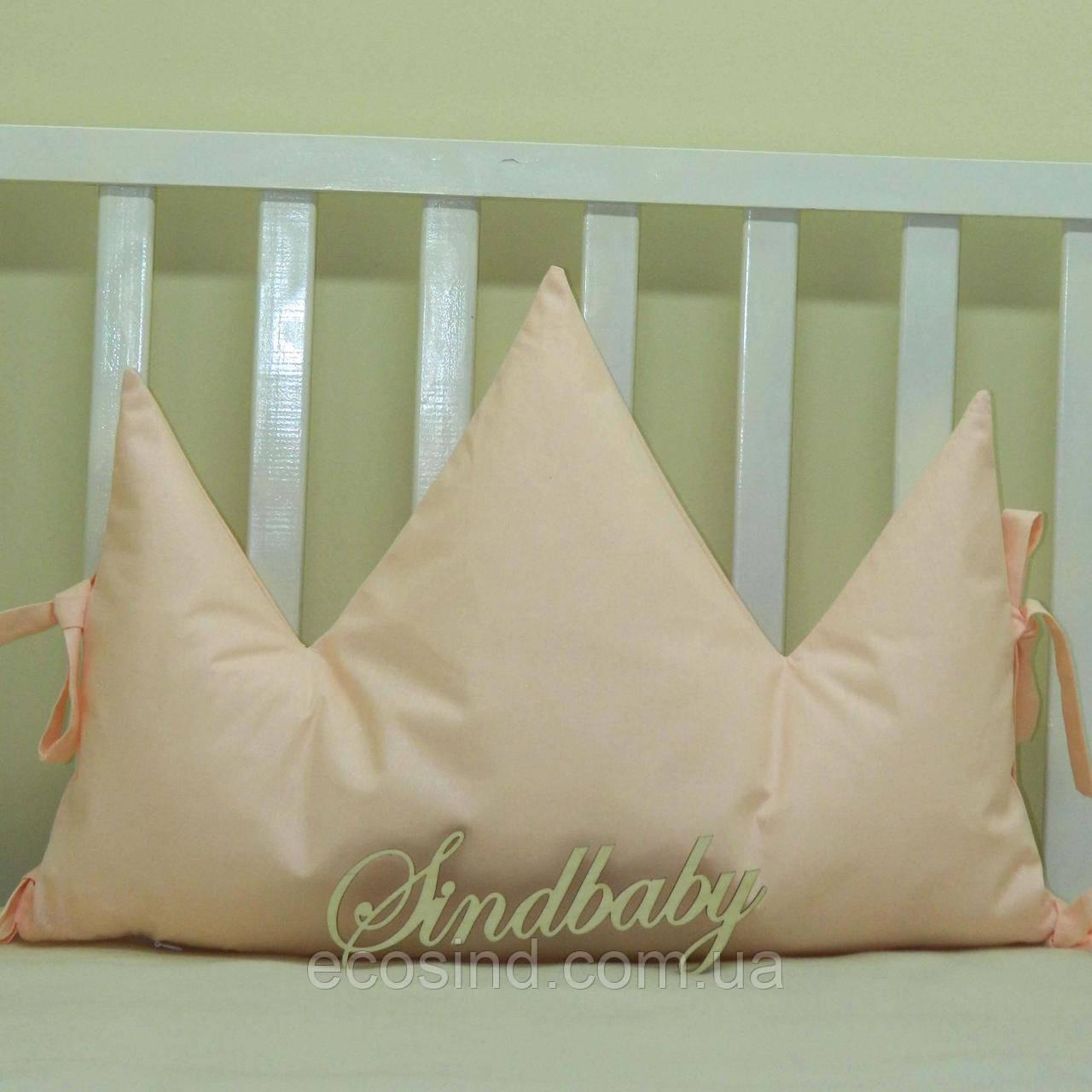 Бортики подушки в кроватку, Подушка Корона - 04