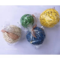 Новогодняя елочная игрушка шар клубок 100 мм NG-09