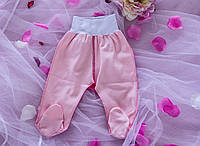 Ползунки детские на еврорезинке розовые интерлок (размер 62)