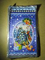 Пакет ПП для фасування новорічних подарунків середній 20х35 см