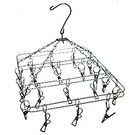 Металлическая квадратная вертушка с прищепками