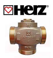 """Трехходовой термосмесительный клапан HERZ Teplomix DN32 1 1/4"""" 55°C с отключаемым байпасом"""