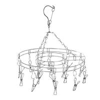 Металлическая круглая вертушка с прищепками