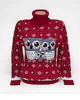 Теплый свитер женский вязаный под горло с орнаментом p.44-48 B31-14