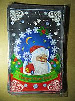 Пакет ПП для фасування новорічних подарунків великий 25х40 см
