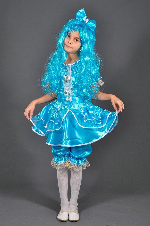 Детский карнавальный костюм МАЛЬВИНА с париком на 5,6,7,8,9,10,11 лет новогодний костюм МАЛЬВИНЫ