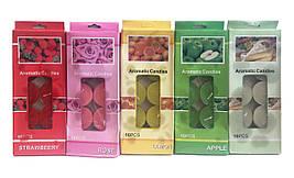 Свечи плавающие цветные без запаха (10 штук)