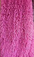 Плед покрывало двуспальное травка с длинным ворсом 220х240 Koloco розовое
