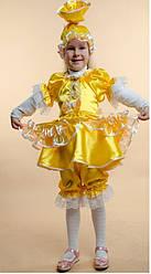 Детский карнавальный костюм КОНФЕТА, КОНФЕТКА, ХЛОПУШКА, КУКЛА, КУКОЛКА детский новогодний костюм ЖЕЛТЫЙ 325