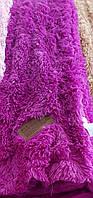 Покрывало травка длинный ворс 220х240 Koloco ,сочная фуксия