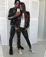 Family look спортивный костюм Милитари мужской и женский