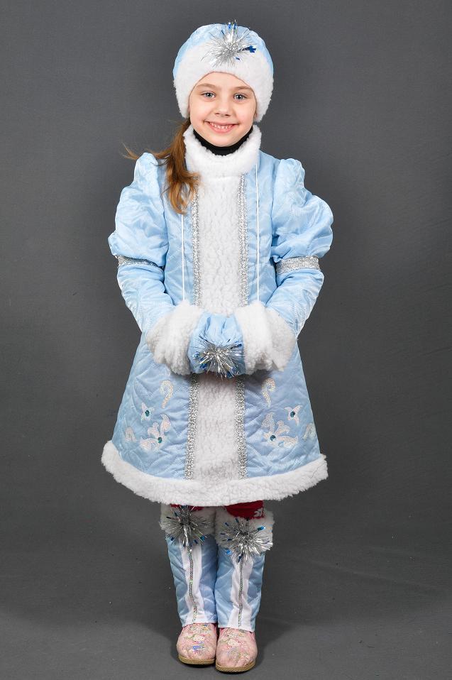 Детский карнавальный костюм СНЕГУРОЧКА на 5,6,7 лет детский новогодний костюм СНЕГУРОЧКИ