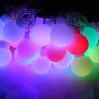 Гирлянда Шарики, новогодняя елочная гирлянда LED, большие лампочки