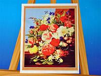 Картина на холсте по номерам Букет Код:57-5412564