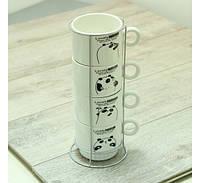 Набор чайный на 4 персоны на подставке Панда Код:88-8718447