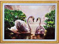 Набор для вышивки картины Лебеди 75х53см Код:373-37010739