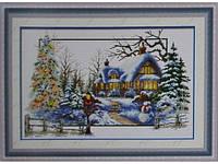 Набор для вышивки картины Снежная Зима 73х49см Код:372-37010742