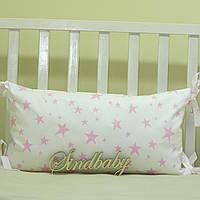 Бортики подушки в кроватку, Подушка сатин 30х60 -08