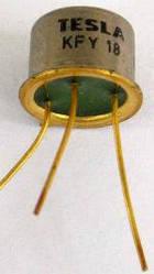 KFY18 TESLA транзистор PNP (50мГц 60В) Ni (ТО5)