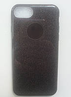 Силиконовая накладка Gliter для Iphone 6S Plus (Black)