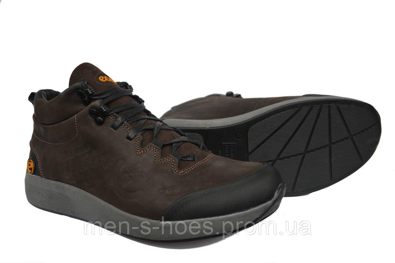 9b5c78c3 Зимние мужские кожаные спортивные ботинки Ecco Brown -