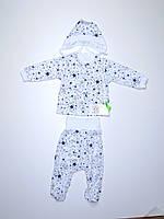 Детский комплект  (62 рост) белый со звездочками