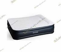 Надувная велюр кровать 67738 со встроенным электронасосом, фото 1