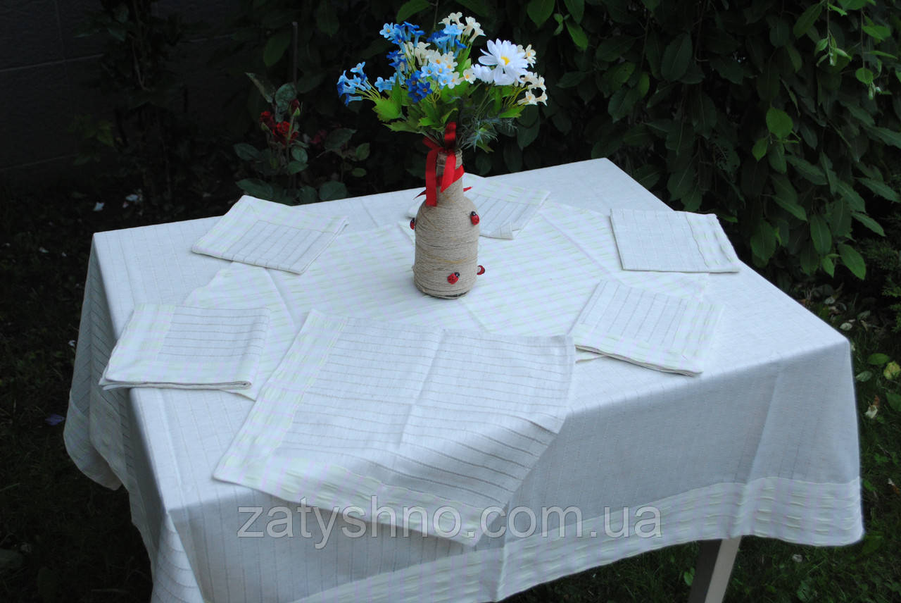 Скатертина із серветками льон