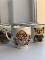 Чашки с Собакой. Чашки на Новый Год и Рождество