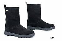 Женские УГГИ замшевые черные 975 Код:591542178
