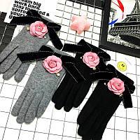 Перчатки женские шерстяные на флисе 8804 (16) Код:599215840