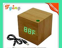 Часы электронные красные цифры. VST 869-4 Green clock 6.5 x 6.5 x 6