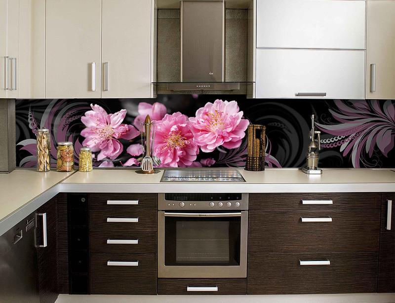 Декоративний кухонний фартух з скла