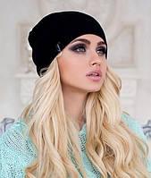 Осенняя шапка-чулок - 4200 чёрный Код:6649