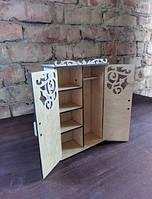 Деревянный шкаф для кукол, фото 1