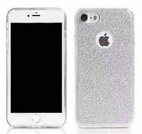 Силиконовая накладка Gliter для Iphone 5S/SE (Silver)
