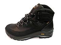 Ботинки мужские зимние GRISPORT Gore Tex кожаные натуральные черные 0001ГР