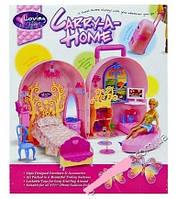 Детский игровой домик для куклы чемодан