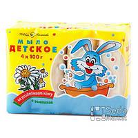 Детское мыло с экстрактом ромашки 4 * 100 г