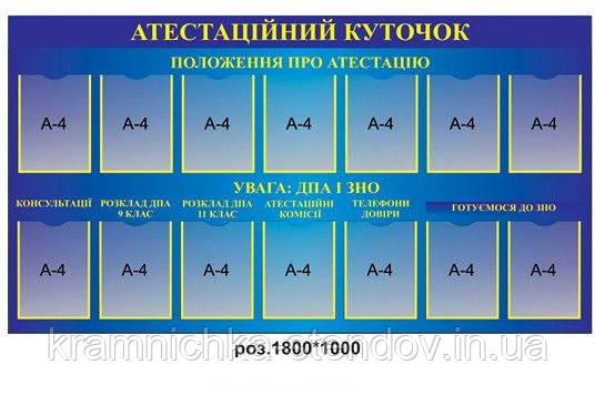 "Стенд ""Аттестация педагогов"""