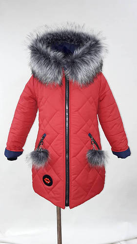 Модная зимняя куртка парка для девочки детская