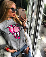 """Женский свитер """"Пара птиц"""" (разные цвета)"""