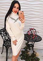 """Красивое женское платье """"Белая птица"""""""