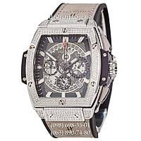 Женские наручные часы Hublot Spirit of Big Bang Titanium Pave Gray-Silver-Black