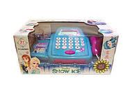"""Кассовый аппарат детский игровой набор касса магазина """"Frozen"""" 66050BX  свет-звук, сканер, калькулятор, в коробке"""