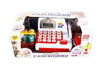 Кассовый аппарат детский игровой набор касса магазина 2900 (1362866) на батарейках, звук, сканер, продукты, в коробке 34*20*14 см.