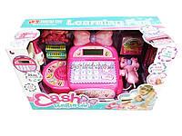 Кассовый аппарат детский игровой набор касса магазина 35562  на батарейках, с ЛСД-дисплеем, кассовая лента, товар, в коробке