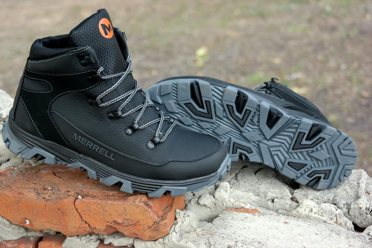 6f9aebca9d17 Защищенные зимние кроссовки Merrell. Кожа и шерсть, невероятно крепкая обувь