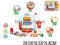 Кассовый аппарат детский игровой набор касса магазина 66057 (1523271) на батарейках, свет, звук, сканер, калькулятор, деньги, в коробке 29*18,5*15,8